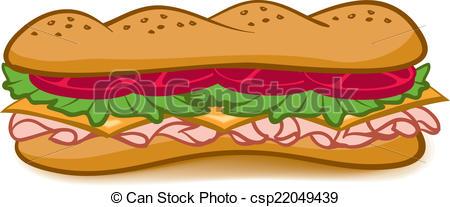 Drawn sandwich sub sandwich #14