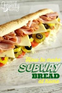 Bread Roll clipart subway restaurant Copycat Home Make 34 Pinterest
