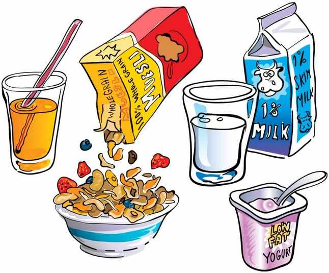 Breakfast clipart cold food Clipart Clipartix images Breakfast clip