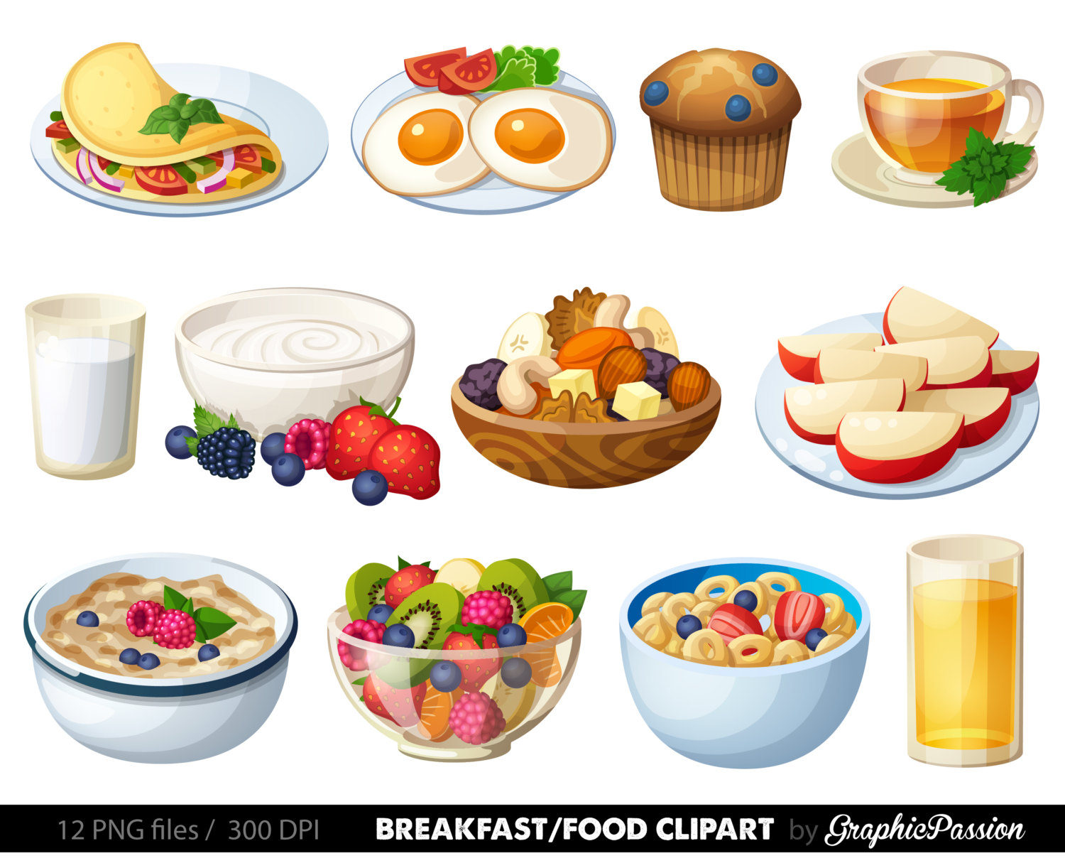 Salad clipart leaf vector Pancakes Breakfast clipart Food Breakfast