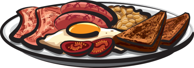 Sausage clipart breakfast item #9