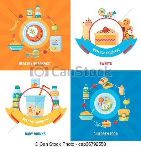 Breakfast clipart baby food Square 4 csp36792558 Clipart 4