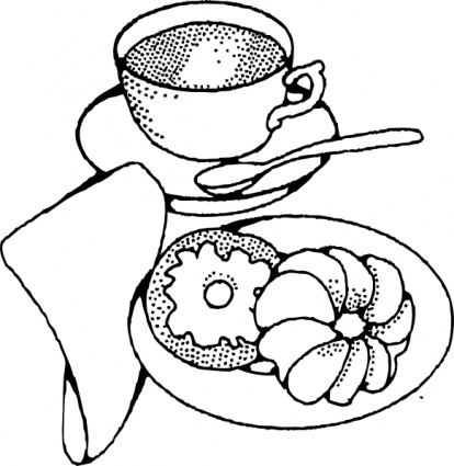 Breakfast clipart black and white Breakfast Clip Black And Art