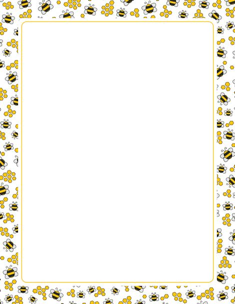 Banana clipart border Borders and bijtjes Bees bees
