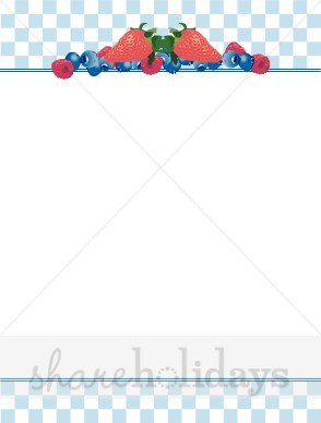 Breakfast clipart boarder Clipart Summer Party Berries Summer