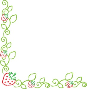 Breakfast clipart boarder Image: Borders Strawberries of Clipart