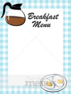 Breakfast clipart border Borders Breakfast Menu Border Gingham