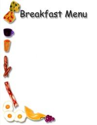 Breakfast clipart border Clipart  Menu Breakfast