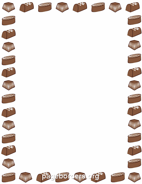 Breakfast clipart border Borders Border Page Free Chocolate