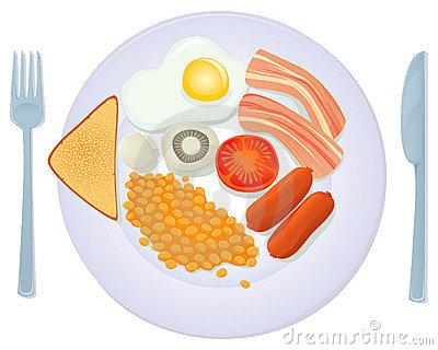 Breakfast clipart breakfast plate Of A China Eden2s Breakfast