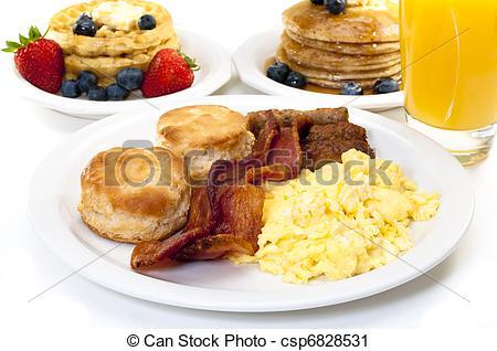 Breakfast clipart breakfast plate Csp6828531 Stock with Big Breakfast