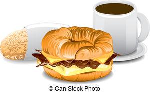 Breakfast clipart breakfast sandwich Fast Complete Art free Breakfast