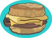 Breakfast clipart breakfast sandwich Food  for 48 Search