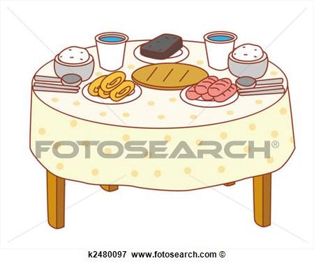 Larger clipart dinner table Art dinner dinner art table