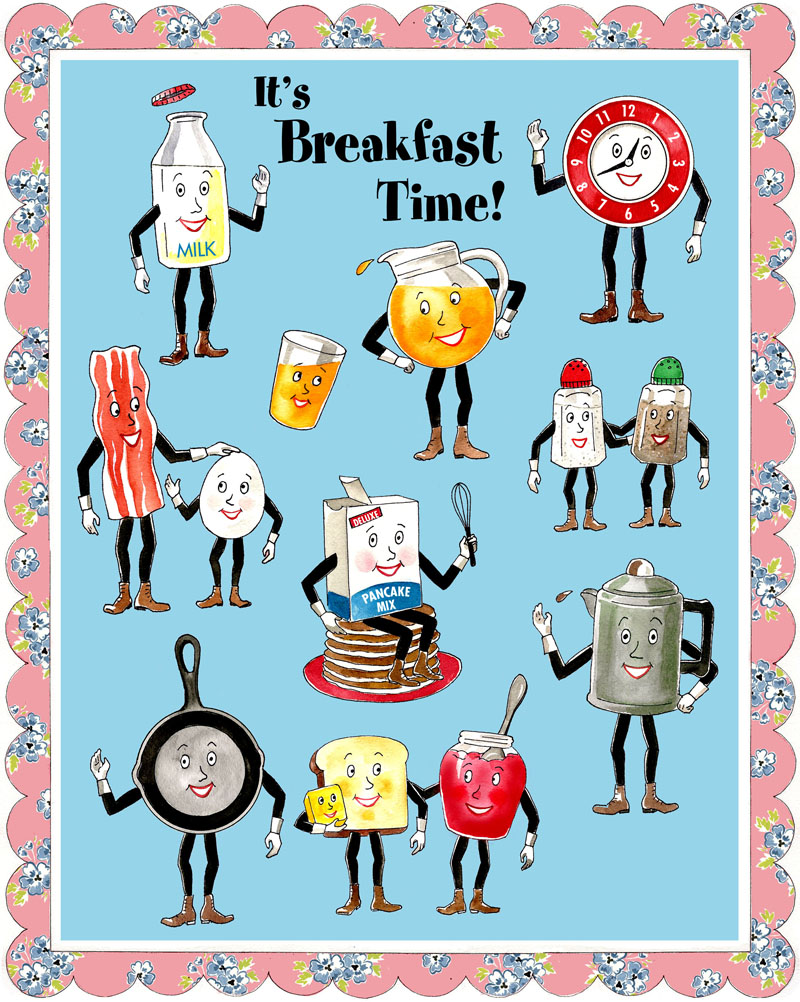 Breakfast clipart breakfast time Breakfast Portraits Time! It's Curious