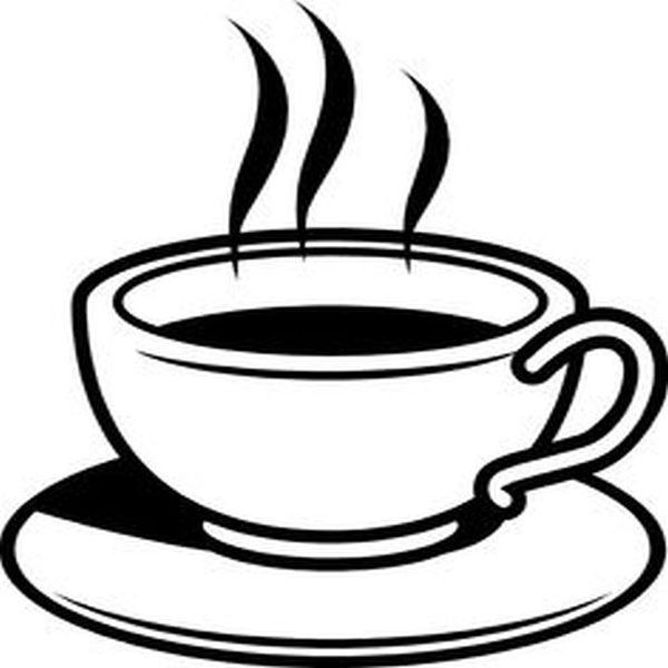Coffee clipart black and white And Black black Clipart White