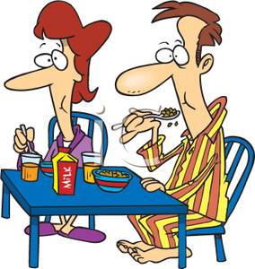 Breakfast clipart ceral Couple Eating Picture Cereal Couple