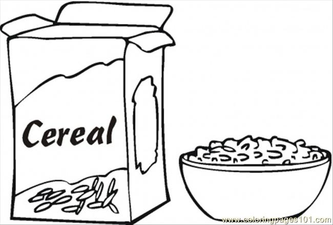 Breakfast clipart coloring page Page Page  Page Page