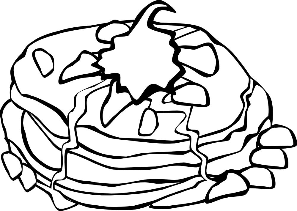 Breakfast clipart coloring page Food Search Fast 148(K) colouringbook