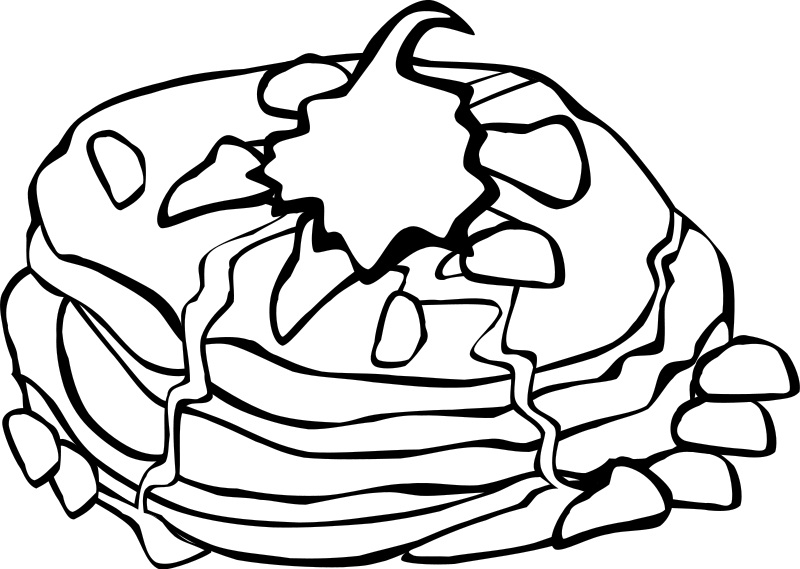 Breakfast clipart coloring page Food Coloring Pages Sheets Me
