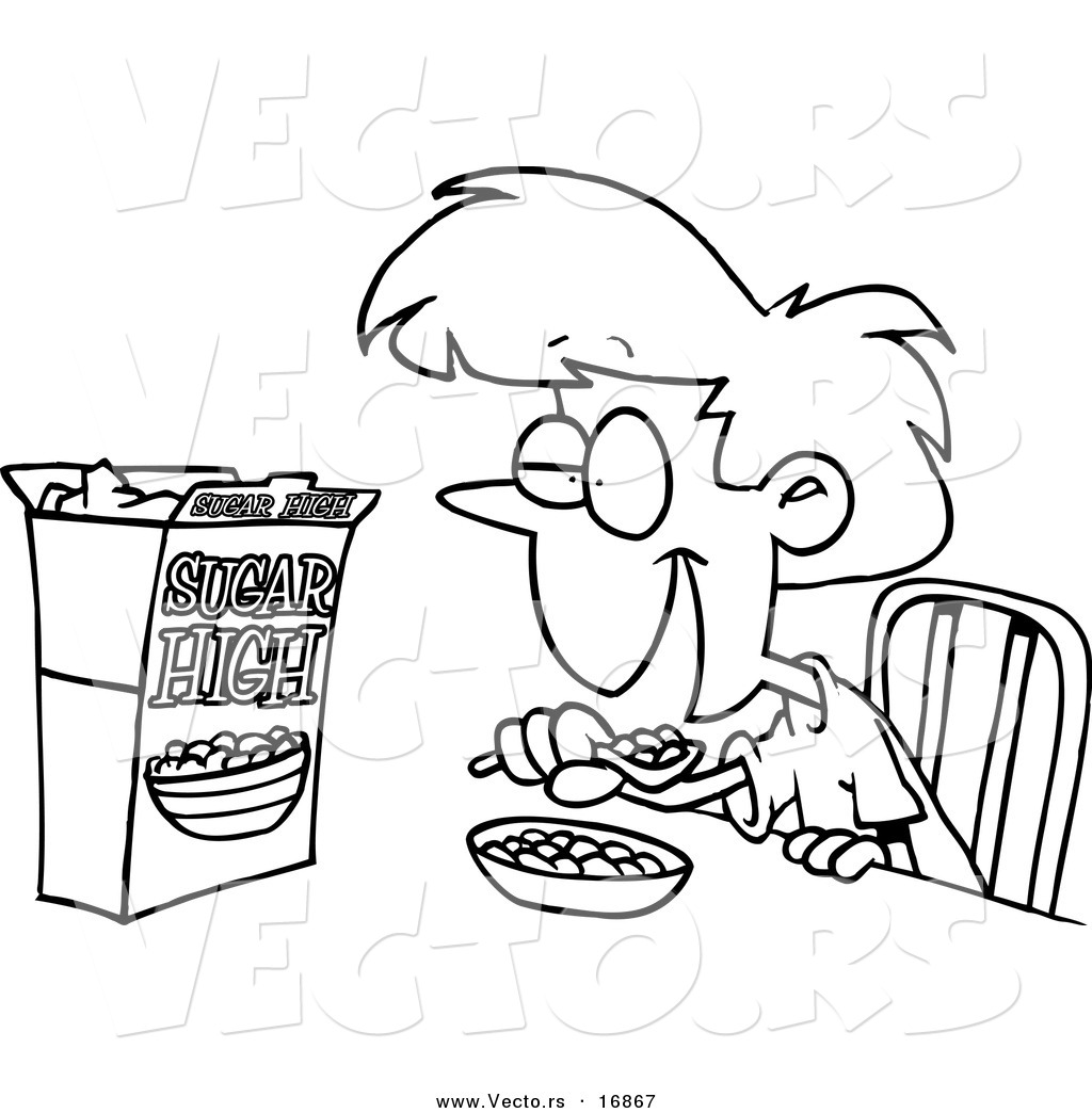 Breakfast clipart coloring page Coloring Breakfast coloring download print