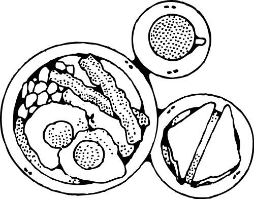 Breakfast clipart coloring page Coloring Breakfast and Coloring Fun