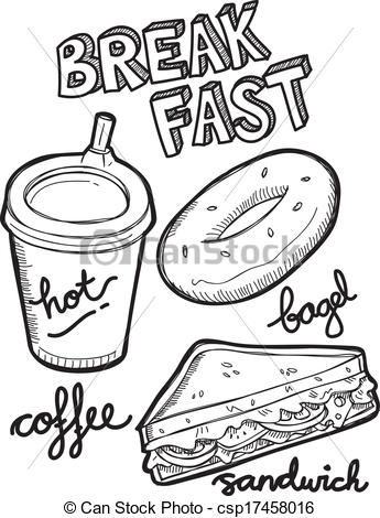 Breakfast clipart doodle Breakfast csp17458016 Search Vector Vector