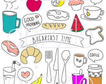 Breakfast clipart doodle Stickers clipart clipart kawaii stickers