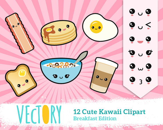 Breakfast clipart doodle Food Cute Breakfast Japan Kawaii