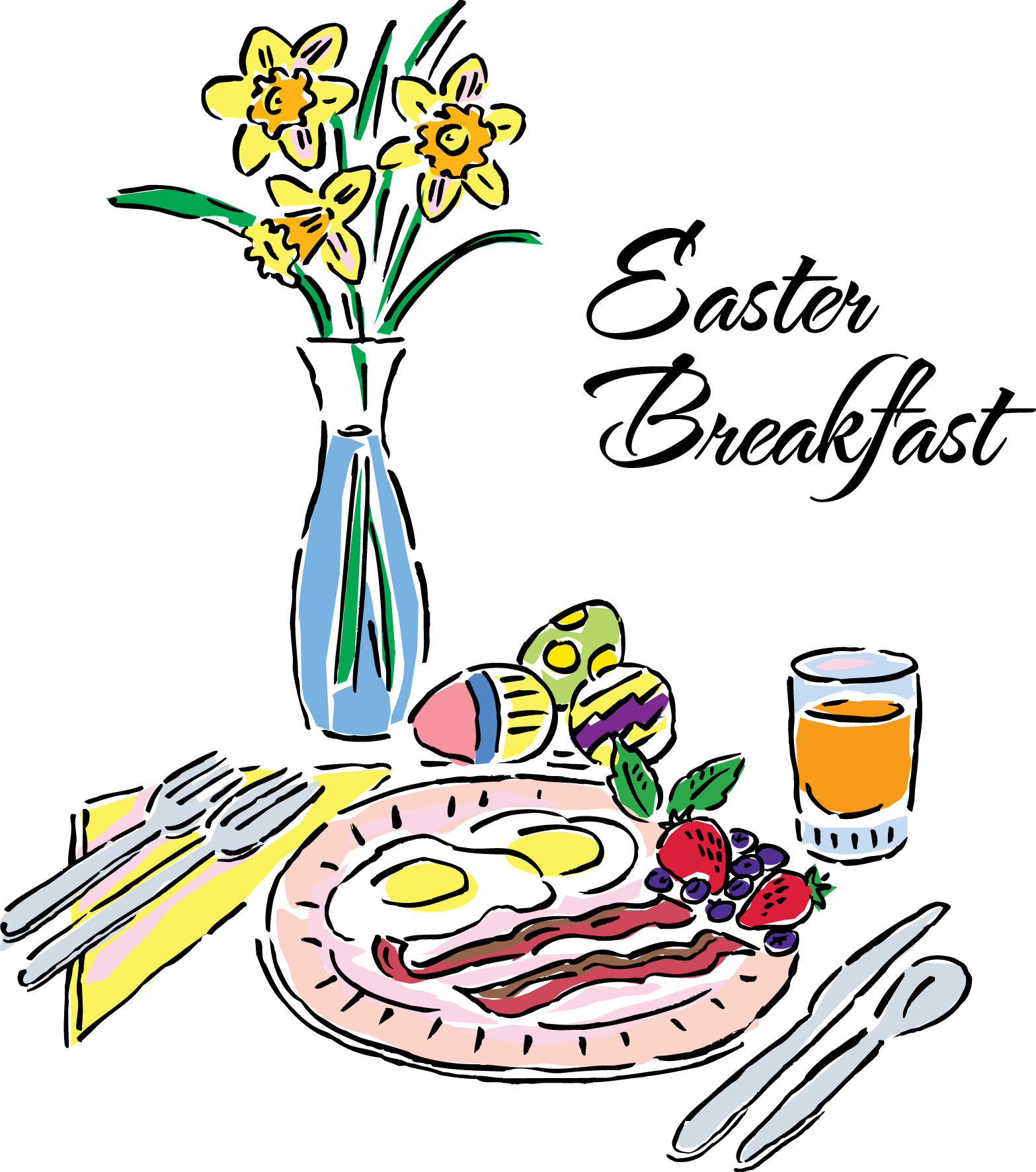 Breakfast clipart easter morning And Clipart Vector Free Favorite