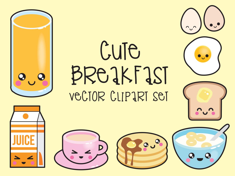 Drawn meal Like Breakfast Kawaii Premium Vector