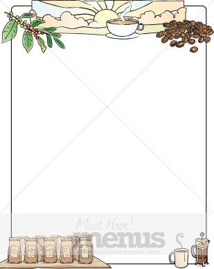 Coffee clipart frame Natural Borders Clipart Coffee Coffee