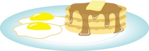 Breakfast clipart fried egg Eggs With Syrupy Of With