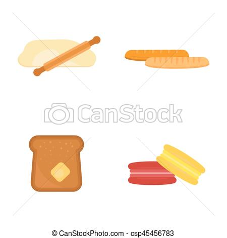 Breakfast clipart grain product Of Vector loaf grain macaroon
