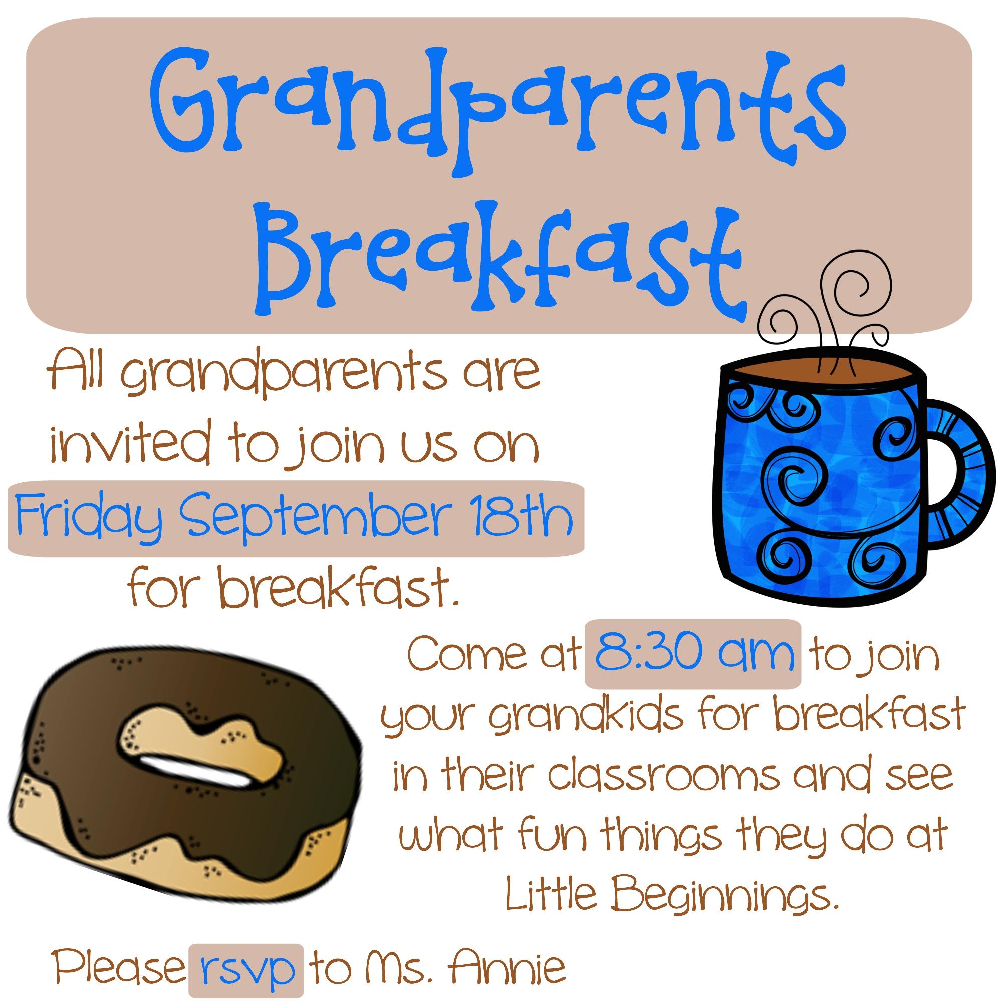 Breakfast clipart grandparent Breakfast School Lunch breakfast grandparents