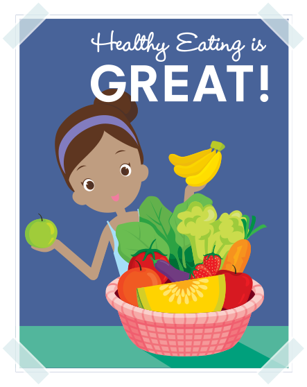Breakfast clipart healthy living Healthy School poster image Nutrition