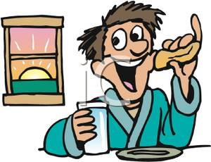 Breakfast clipart healthy living Morning living fitness healthy and