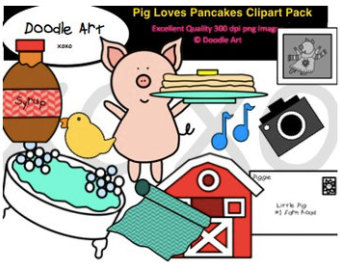 Breakfast clipart if you give a pig a pancake A pancake You If Pack