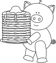 Breakfast clipart if you give a pig a pancake The Black Image with Little