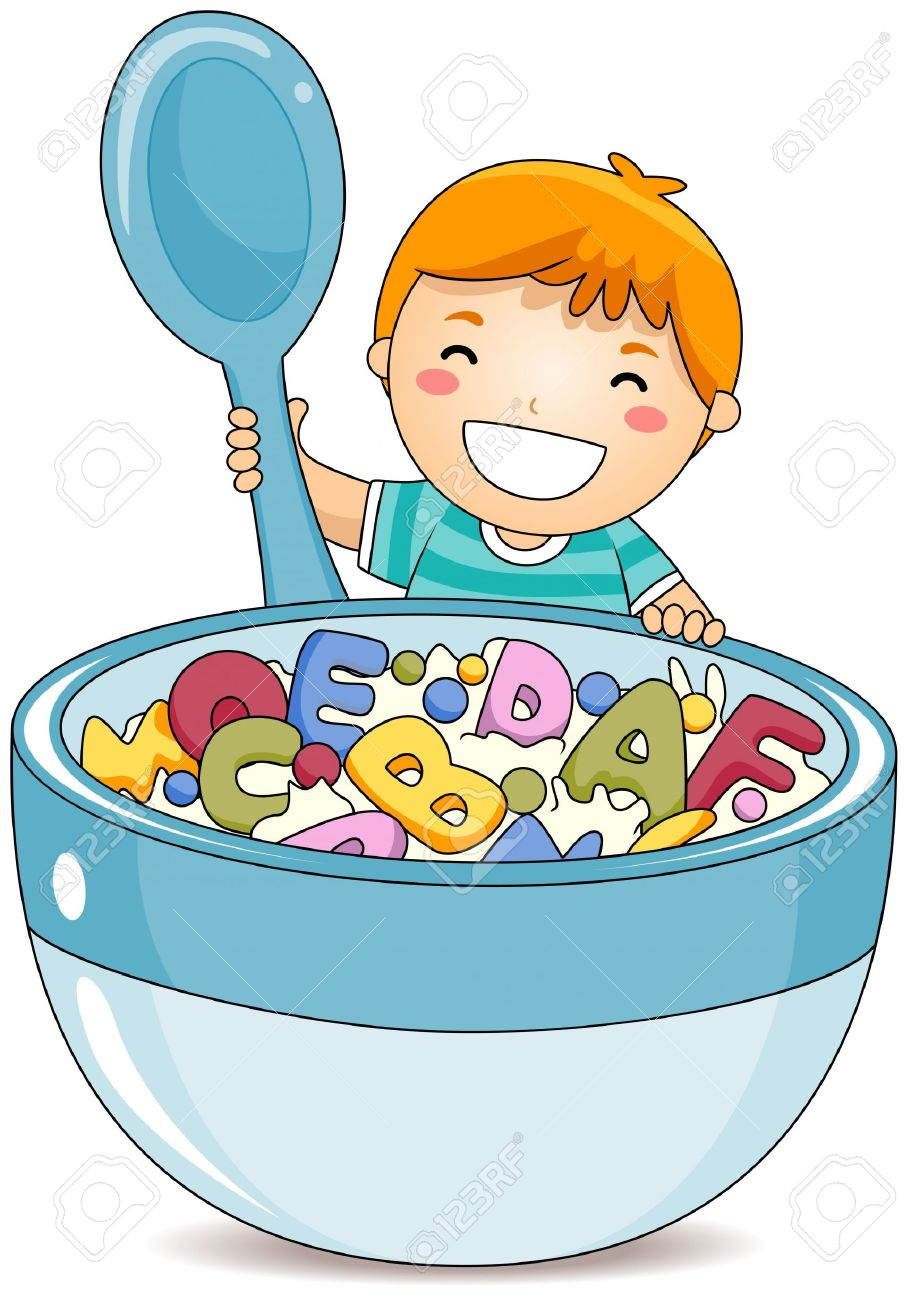 Breakfast clipart kid breakfast Art Clipart Eating Breakfast clipart