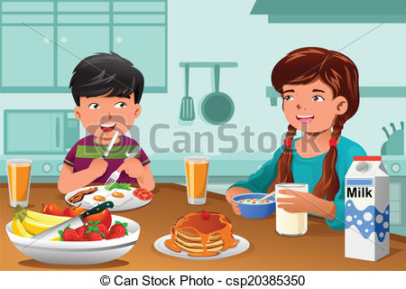 Breakfast clipart kid breakfast 63KB Powerpoints on your Clipart