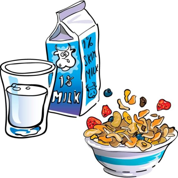 Breakfast clipart kid breakfast Of Clipart Eating Breakfast Breakfast