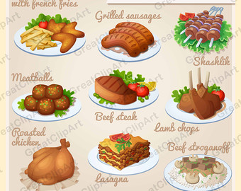 Breakfast clipart meal Breakfast Digital art meats clipart