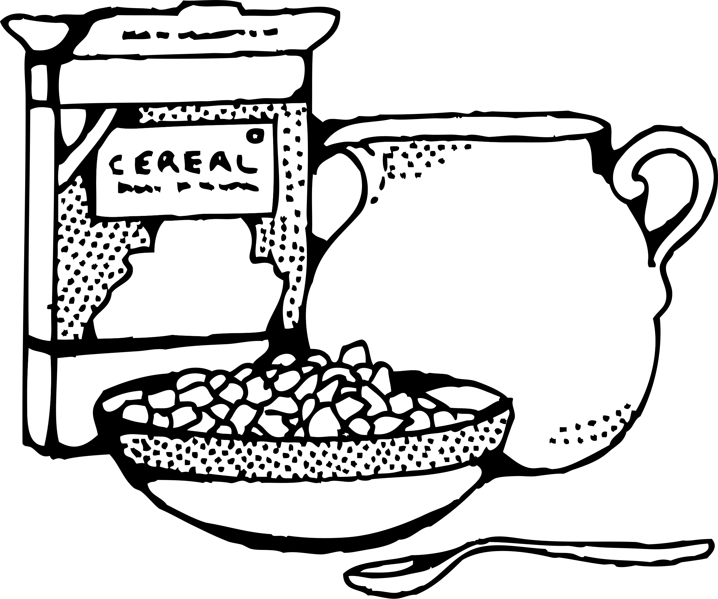 Bread clipart cereal Black art Cereal Cereal Clipart