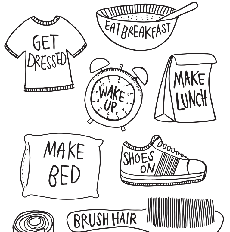 Morning clipart morning routine Gallery Routine Art Clip >