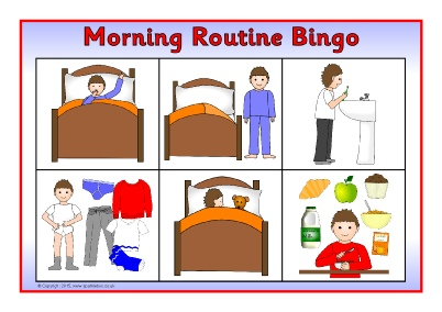 Morning clipart morning routine Morning  Early (SB11125) Printables