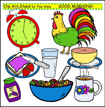 Breakfast clipart morning work 369x376 Clipart time it morning