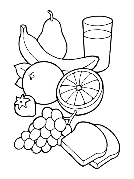 Breakfast clipart nutritious food And white white Breakfast black