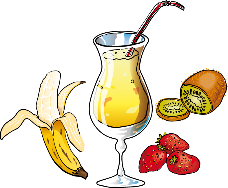 Breakfast clipart nutritious food Free banana_strawberry_kiwi_smoothie View collection Pictures