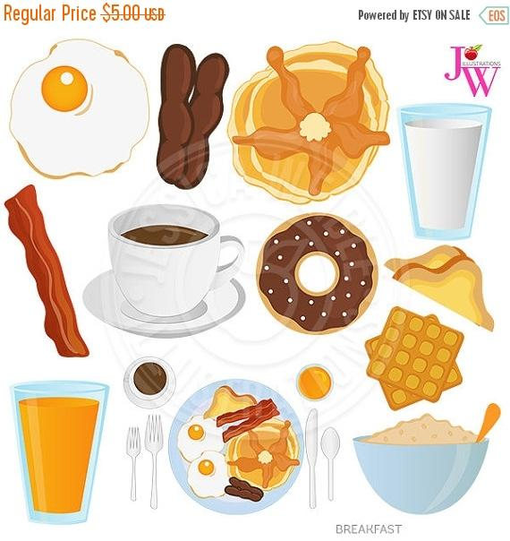 Breakfast clipart oatmeal SALE Pancakes SALE art Breakfast